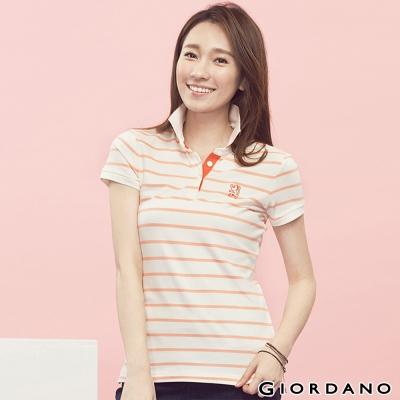 GIORDANO-女裝青蛙刺繡修身POLO衫-91