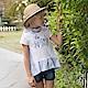 PIPPY 花朵剪接造型上衣 白 product thumbnail 1