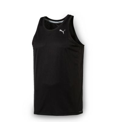 PUMA 男性慢跑系列吸排運動背心-黑
