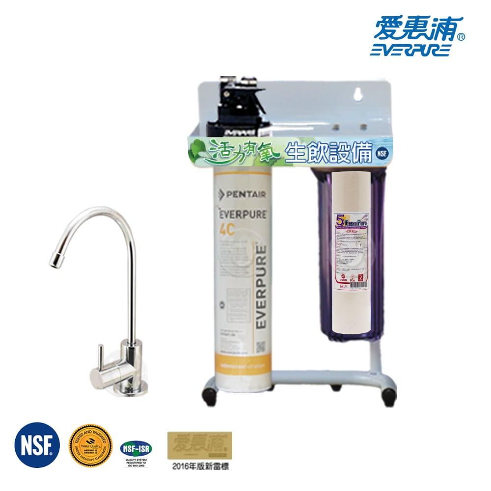 愛惠浦 EVERPURE 公司貨淨水器 QL3-4C 加贈前置單道立架組