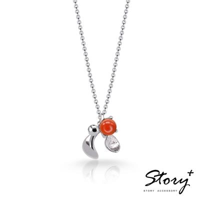 STORY故事銀飾-SNOW系列-Mistletoe槲寄生紅玉髓項鍊