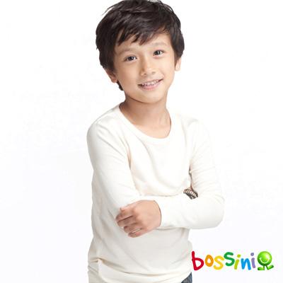 bossini 童裝-智慧溫紗調溫素面上衣(灰白色)