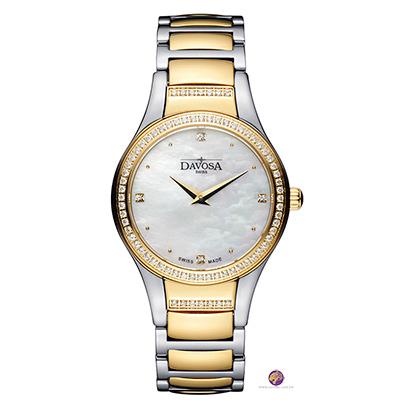 DAVOSA LUNASTAR 璀璨晶鑽女錶/半金鋼帶-31mm
