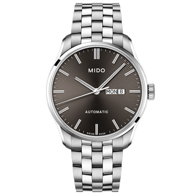 MIDO 美度 BELLUNA II 經典機械腕錶-銀X灰/42mm