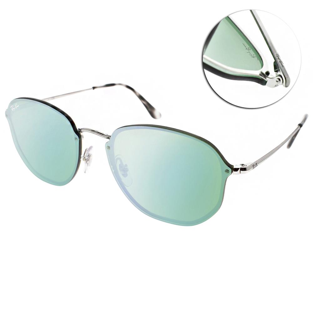 RAY BAN太陽眼鏡 經典品牌/銀-粉綠水銀#RB3579N 00330