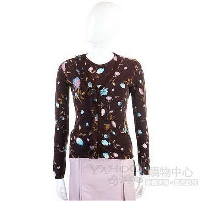 BLUGIRL 咖啡色花卉圖紋兩件式上衣