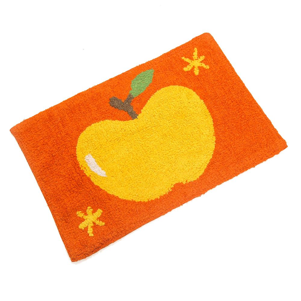 布安於室-大蘋果純棉踏墊2入-橘色