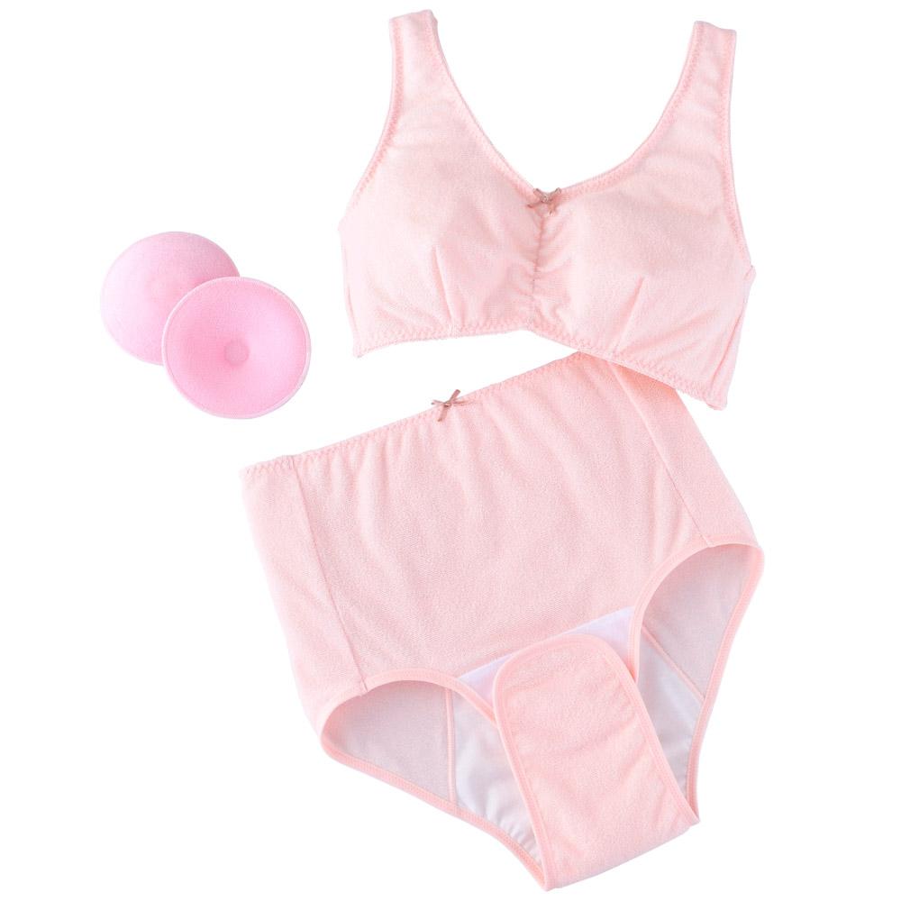 日本犬印-攜帶型內衣褲組-M/L-粉紅色