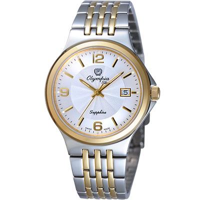 Olympia Star 爵士戀人時尚腕錶-半金/35mm