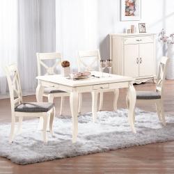 Bernice-溫蒂造型麻將桌/餐桌椅組(一桌四椅)97x97x76cm