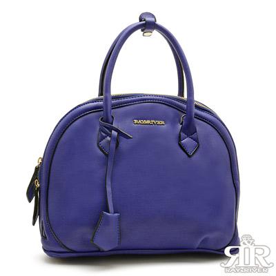 2R-城市魅力R-bag牛皮貝殼包-紫羅藍