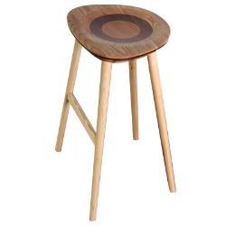 ROSA羅莎 羅勒造型實木吧檯椅-栓木色