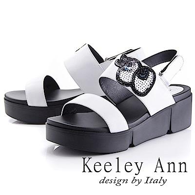 Keeley Ann 韓式風潮~時尚俏皮大眼仔涼鞋(白色-Asin系列)