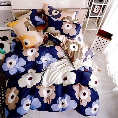 生活提案 純棉涼被床包組 加大四件組 朝花夕拾