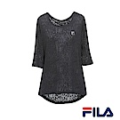 FILA女性簡約T恤(個性黑)5TER-1604-BK