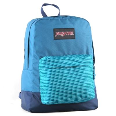 JanSport校園背包(BLACK SUPERBREAK)-鋼青色