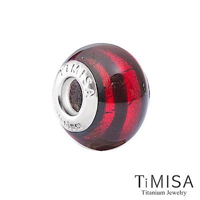 TiMISA 流暢-紅(11MM)》純鈦琉璃 墜飾串珠