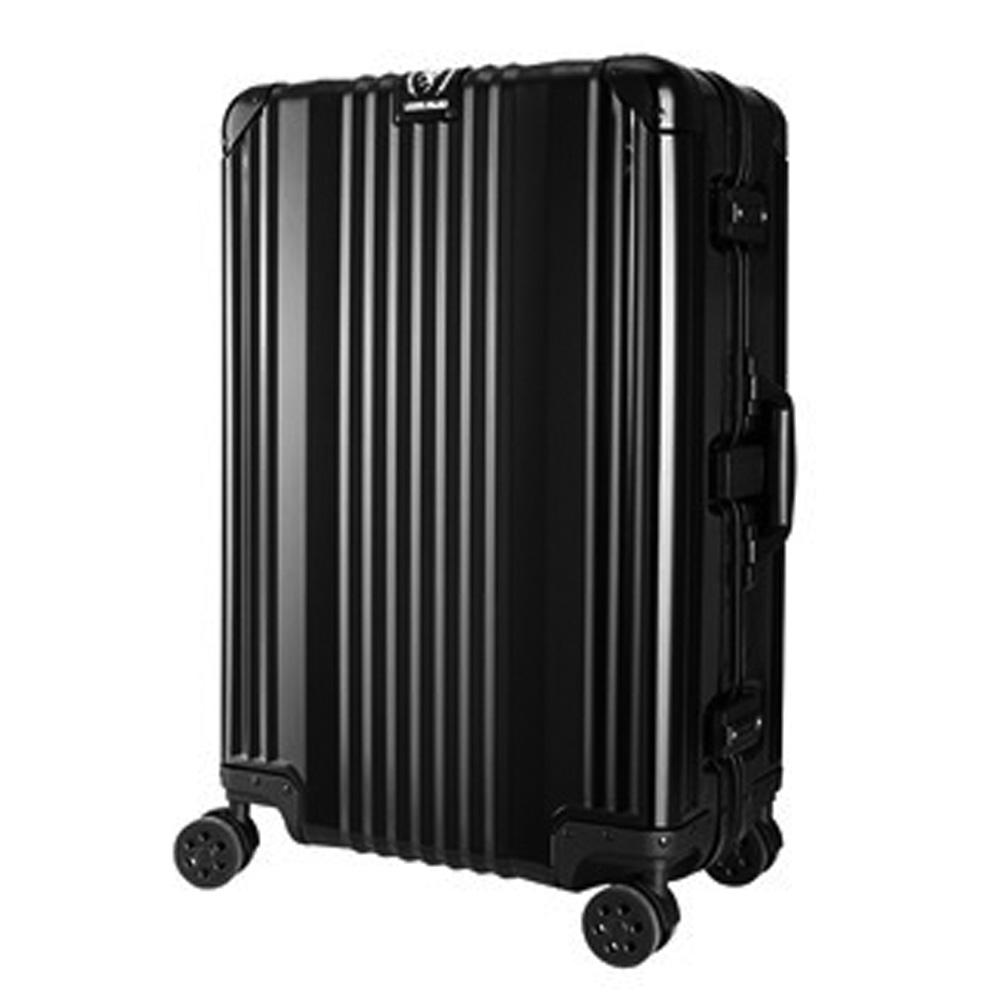 日本 LEGEND WALKER 1510-63-25吋全鋁鎂合金行李箱 漆彈黑