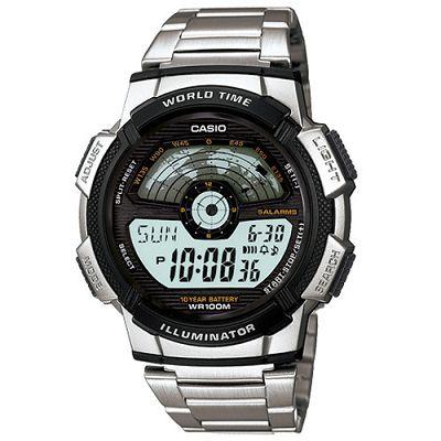 CASIO 航空儀表版造型戶外雙顯不鏽鋼錶(AE-1100WD-1A)-48.1mm