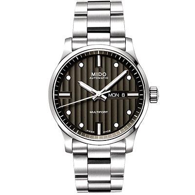 MIDO Multifort 系列經典鋼帶腕錶-黑/44mm
