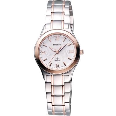 ORIENT-經典扭索狀簡約女錶-半金-28mm