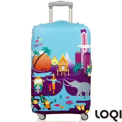 LOQI 行李箱套│泰國M號 適用22-27吋行李箱保護套