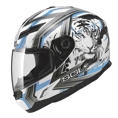 SOL SF-1老虎系列 全罩式安全帽 (白藍)