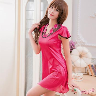 派對服 角色扮演  桃紅色中國風旗袍角色扮演服(桃紅F) Lorraine