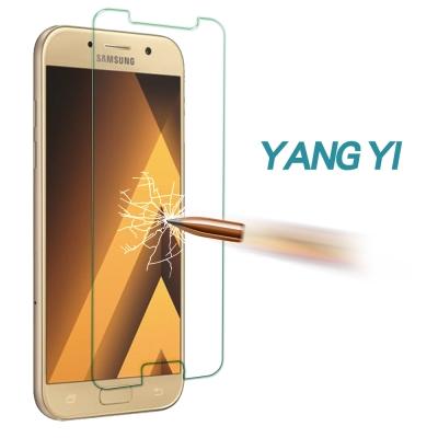 揚邑 Samsung Galaxy A5 2017 防爆防刮防眩弧邊 9H鋼化玻...