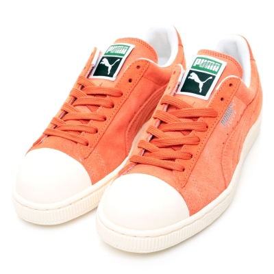 PUMA-Suede-Rubber女休閒鞋-橘