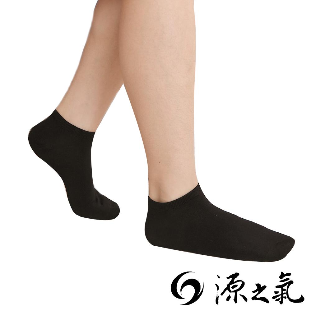 源之氣 竹纖維船型襪/男女共用 黑色 6雙入 RM-30053