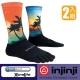 【Injinji】TRAIL 避震多功能Coolmax跑步五趾襪(2雙)_棕櫚/橘 product thumbnail 1