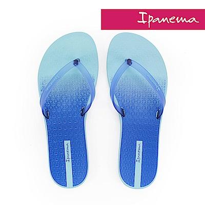 IPANEMA 繽紛渲染夾腳拖鞋-藍色漸層