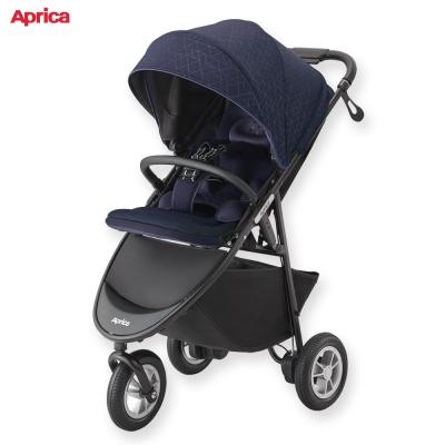 日本 Aprica 嬰兒手推車 SMOOOVE  Premium 大三輪系列 藍