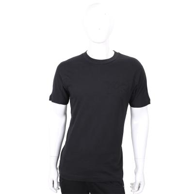 Y-3 Embossed 純棉黑色浮雕標誌短袖T恤