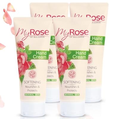 保加利亞My rose 玫瑰保濕透白護手霜75ml四入