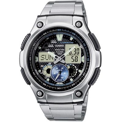 CASIO 超世代城市光廊雙顯指針錶(AQ- 190 WD- 1 A)