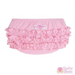RuffleButts 小女童荷葉邊包屁褲-粉紅荷葉邊