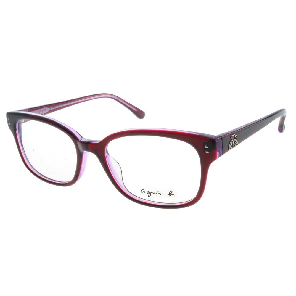 agnes b.眼鏡 愛心小b/俏麗紫色#ABP225 X15