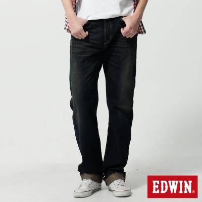 EDWIN-中直筒505ZX純棉牛仔褲-男-中古藍