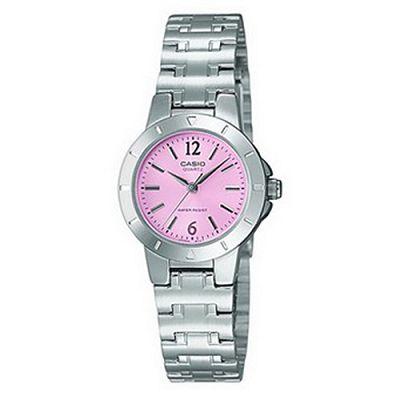 CASIO 時尚精緻迷你淑女腕錶(LTP-1177A-4A1)-俏麗粉/28mm