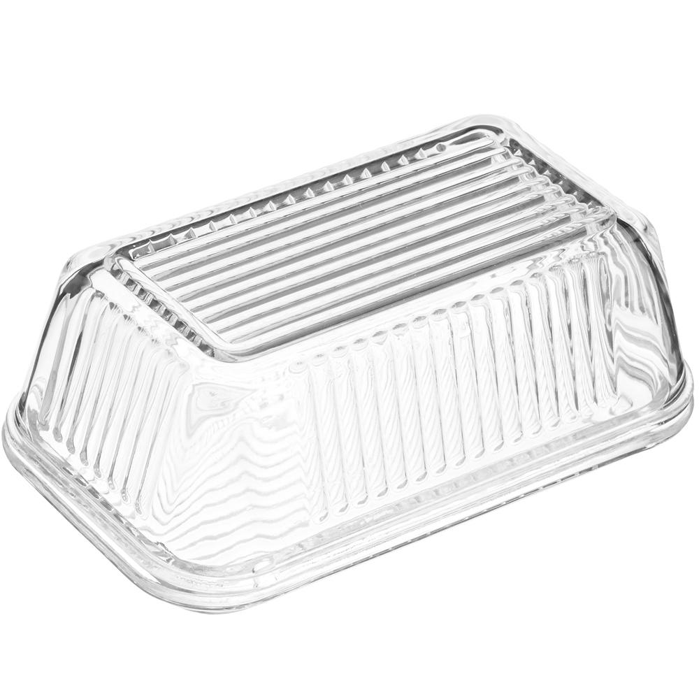 KitchenCraft 玻璃紋附蓋奶油盤