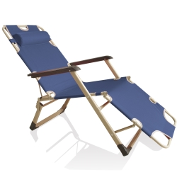 無重力方管三用摺疊躺椅(藍)一張