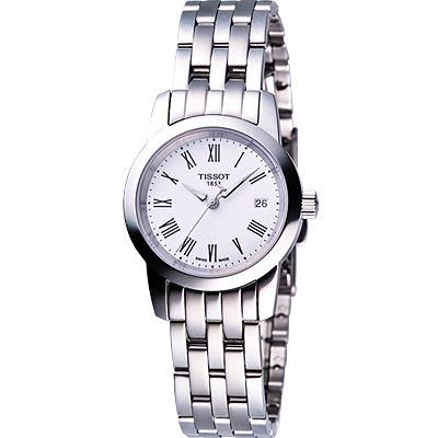 TISSOT CLASSIC DREAM 經典鋼帶女錶(白)-28mm