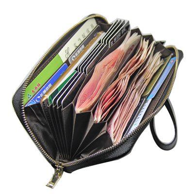 玩皮工坊-牛皮20卡位多隔層女士皮夾錢包長夾女夾-LH505