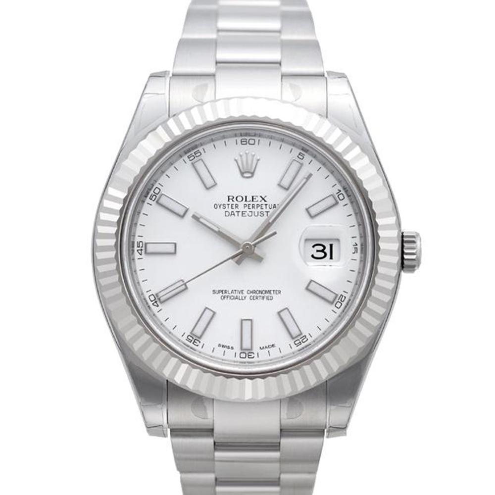 ROLEX 勞力士 DatejustII 116334 蠔式恆動日誌型腕錶-白/41m