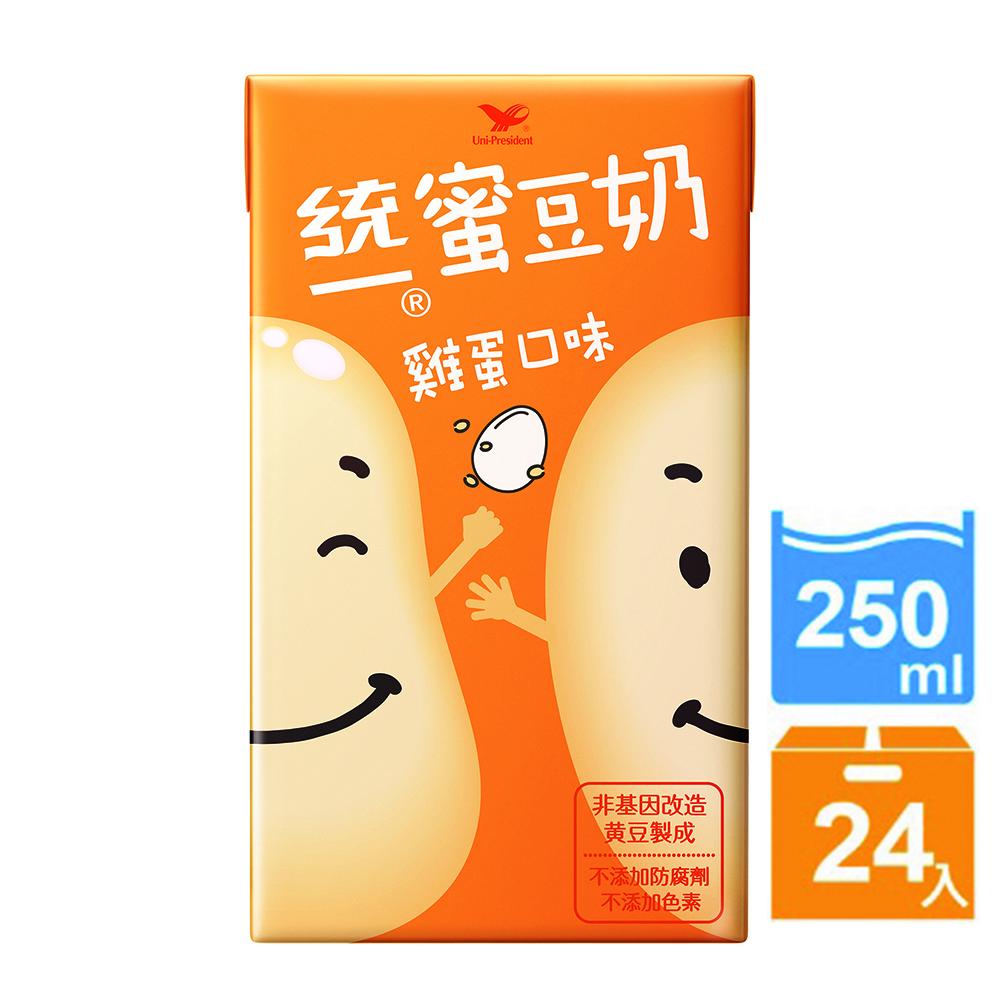 統一蜜豆奶 雞蛋口味(250mlx24入)