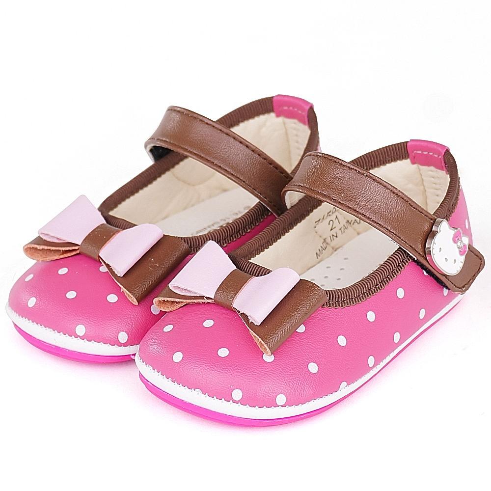 Hello Kitty專櫃超輕量纖維透氣皮防滑學步寶寶童鞋-桃