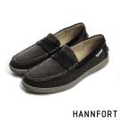 HANNFORT CARIBBEAN帆布氣墊樂福鞋-男-自在咖