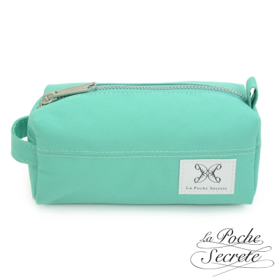 La Poche Secrete 率性韓風自在休閒帆布漾彩收納化妝萬用包-薄荷綠
